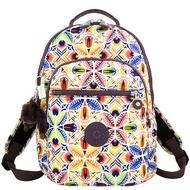 KIPLING 彩色花卉圖樣後背包