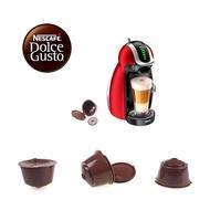 RHS Onlineถ้วยแคปซูลกาแฟแบบใช้ซ้ำได้,ตะกร้ากรองกาแฟพร้อมช้อนพลาสติก1ชิ้นสำหรับเครื่องทำกาแฟDolce Gusto
