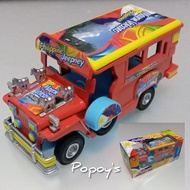 Miniature Philippine Jeepney Diecast Metal Pull Back Action Red