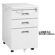 【愛力屋】選購配件 全新 活動櫃 (灰白色,黑色)2色可選 OA桌 三抽 活動櫃 三層 活動櫃