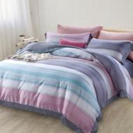 BUHO 300織100%TENCEL純天絲八件式兩用被床罩組-雙人加大(光韻彩境)