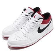 【NIKE 耐吉】休閒鞋 Air Jordan 1 Low 男鞋 經典款 喬丹一代 皮革 簡約 球鞋 穿搭 白 黑(553558-118)
