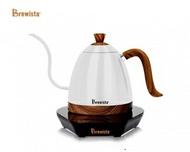 金時代書香咖啡 Brewista Artisan 經典木紋款 珍珠白 電熱手沖壺 600ml