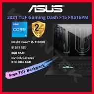 "2021 Asus TUF Dash F15 FX516PM Gaming Laptop ( Intel i5 11th Gen, 8GB RAM, 512GB SSD, RTX3060, 15.6"" 144Hz, RGB Keyboard )"