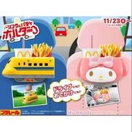日本 麥當勞 限定 車用 置物盒 美樂蒂 Melody 新幹線 電車造型  後座飲料架