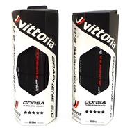 維多利亞自行車公路車黑色無內胎外胎車胎輪胎 Vittoria Corsa TLR G2.0 700x25C
