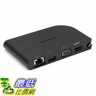 [美國直購] Kensington K33969WW 充電座 SD1500 USB-C Mobile Docking Station with HDMI/VGA, USB 3.0 & Gigabit Ethernet