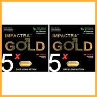 Impactra Gold (2 Capsules) | 100% Natural Male Sexual Enhancement | Tongkat Ali | 5 Days Long Action Per Capsule