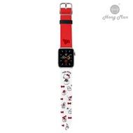 〈HongMan〉三麗鷗系列 Apple Watch 皮革錶帶 Hello Kitty 銀色 兩款尺寸可選