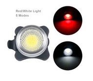 #N/A - USB充電自行車山地車閃光車尾燈(紅白光)