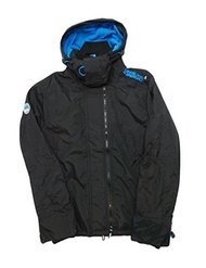 Direct from Germany -  Superdry Windcheater Men POP ZIP HOODED ARCTIC Black Denby Blue