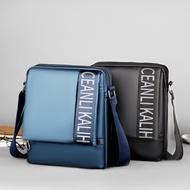 美國原廠正品 Calvin Klein /CK 單肩包 側背包 後背包 公事包 潮男斜背包 經典簡約 全皮LOGO款