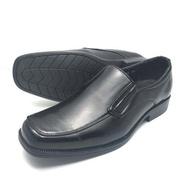 รองเท้าคัชชูหนังแบบสวม สีดำ BZ024 ไซส์ 39-45 รองเท้าทำงาน รองเท้าทางการ