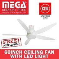 Kdk U60Fw 60Inch Ceiling Fan With Led Light