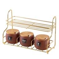 Seasoning Box Set KITCHEN Supplies Appliances Seasoning BOX Salt Shaker Household KITCHEN Storage SHELF