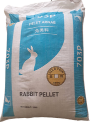 (25KG) MAKANAN ARNAB RABBIT PELLET FOOD, FEED & DIET REPACKED BRAND GOLD COIN 703P