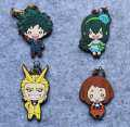 My Hero Academia Anime Boku no Hero Academia Midoriya All Might Asui Tsuyu OCHACO URARAKA Rubber Keychain