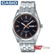 ส่งฟรี !! Casio Standard นาฬิกาข้อมือสุภาพบุรุษ สายสแตนเลส รุ่น MTP-1335D-1A2VDF (หน้าปัดสีดำ)