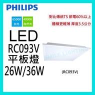 ☺附發票《飛利浦 PHILIPS》LED 36W/36W 超薄平板燈 RC093V 超節能 取代傳統輕鋼架-SMILE☺