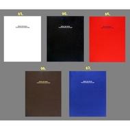 日本NCL百年素面簡約A4布面黑內頁自黏黏貼相本相簿 (A4PB-181)