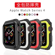 Applicable apple watch4 protective cover Apple 4 generation watch shell iPhone watch3/2/1 silicone case iwatch4 men and women watch shell soft 38mm42 drop 40mm44