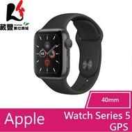 Apple Watch Series 5 40mm GPS太空灰鋁金屬錶殼配黑色運動錶帶-全新福利品【葳豐數位商城】