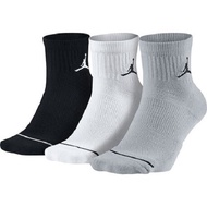 NIKE JORDAN JUMPMAN喬丹 三雙入厚底 運動襪 三色 黑灰白SX5544017
