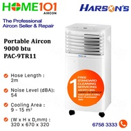 Harsons Portable Aircon 9000BTU PAC-9TR11* NO INSTALLATION* - FREE ONE TIME STANDARD CLEANING