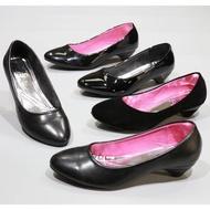 รองเท้า 6361,1A,1B,F1,F1A,F1B รองเท้าผู้หญิง รองเท้าคัชชู ส้นสูง สีดำ นักศึกษา รองเท้าส้นสูง 1 FAIRY รุ่น 636