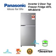 Panasonic NR-BD418 Inverter 2 Door Top Freezer Fridge (407L)