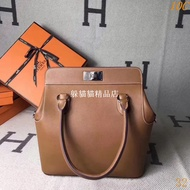 Hermes 愛馬仕 2019秋冬新款 金棕色/橙色 牛奶盒 經典包包 手提包 肩背包