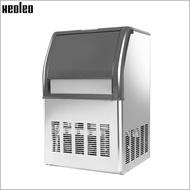 เครื่องทำน้ำผลไม้Xeoleo Commercial Ice Maker 50กก./24Hน้ำแข็งเครื่องสแตนเลสIce Make 10กก.สำหรับฟองชา/กาแฟ/บาร์