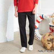 【NAUTICA】彈性保暖打摺休閒長褲(黑色)