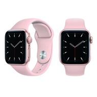 APPLE Watch SE GPS金色鋁金屬錶殼+粉色運動型錶帶44mm