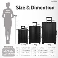 """กระเป๋าเดินทาง Tpartner กระเป๋าเดินทาง ขนาด20"""" 24"""" 29"""" กระเป๋าเดินทางล้อลาก Classic วัสดุอลูมิเนียมทั้งใบ ดีไซน์ทรงเหลี่ยม หูจับหนังPU"""
