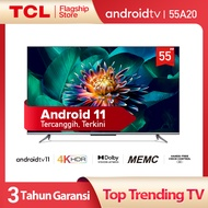 The First Android 11 TV TCL 55 inch Smart TV - Android 11.0 - 4K UHD - Dolby Vision - Atmos - MEMC - HANDS-FREE VOICE CONTROL - HDMI 2.1 - Frameless Design - Netflix & Youtube (Model 55A20)