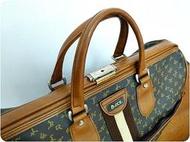 【 老德傢俬】Vintage70年代類Gucci古董旅行包『普普北歐復古老沙發偉士牌Vespa可參考』