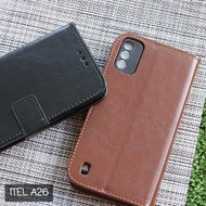 SARUNG ITEL A26 FLIP LEATHER COVER WALLET CASE KULIT TPU DOMPET KANCING - LEATHER FLIP CASE ITEL A26