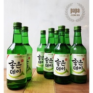 GoodDay Korean Soju Original Flavor- 16.9% ABV - (8 x 360ml Bottle)