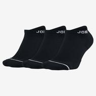 ★三入★ NIKE JORDAN DRI-FIT 襪子 短襪 踝襪 透氣 黑【運動世界】SX5546-010