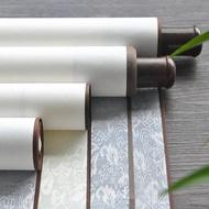 全綾精裝裱空白捲軸半生半熟書法作品宣紙橫軸掛軸書畫軸ATF 格蘭小舖