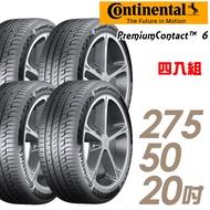 【Continental 馬牌】PremiumContact 6 舒適操控輪胎_四入組_275/50/20(PC6)