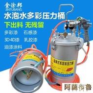 噴漆槍 10升水包水多彩噴搶乳膠漆噴槍仿石漆涂料噴涂壓力桶吸塑膠噴膠罐 MKS阿薩布魯