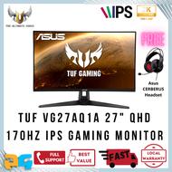ASUS TUF Gaming VG27AQ1A IPS Gaming Monitor 27 inch WQHD (2560 x 1440) 170Hz / 1ms MPRT Extreme Low Motion Blur G-SYNC Compatible FreeSync Premium HDR 10