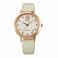 ORIENT 東方錶ELEGANT系列 (FER2H003W)永恆耀眼時尚機械錶 絹布錶帶款 白色 36mm