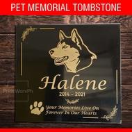 Pet Memorial Tombstone - Personalized Memorial Marker for Dog - Cat - Computerized Lapida Maker