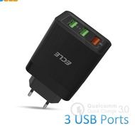 ✰*KSIR* ECLE Head 3 Ports Quick Charge 3.0 Charger *D*