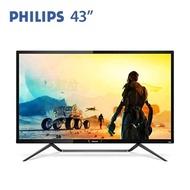 【43型】PHILIPS飛利浦 436M6VBPAB 4K VA液晶顯示器/3840x2160/DP/miniDP/HDMI/4ms/75HZ/HDR/TypeC/Free Sync/低藍光/不閃屏/附遙控器