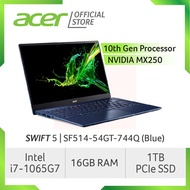Acer Swift 5 SF514-54GT-744Q(Blue) NEW Thin and light laptop with LATEST 10 Gen Intel i7-1065G7