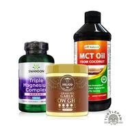 中鏈MCT油(473ml)+大蒜無水奶油(230公克)+全方位三重鎂膠囊(100顆)
